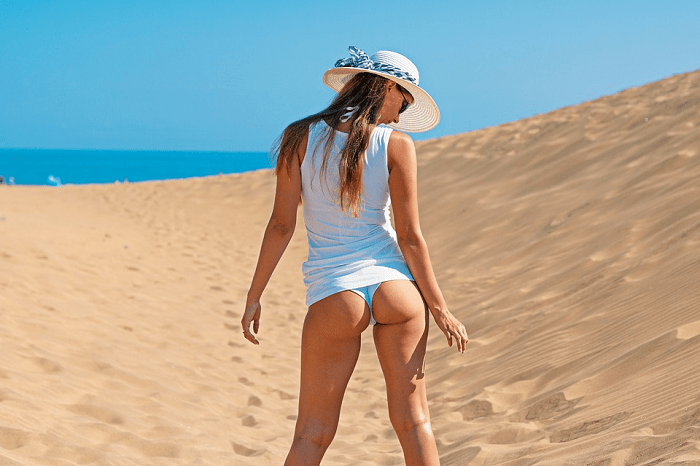 round natural booty